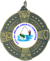 50mm Antique Gold Irish Medallion