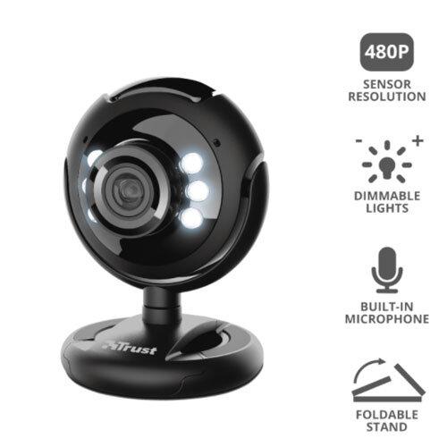 Trust 1.2MP Pro Webcam with LED lights 2