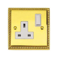 BRASS HERITAGE SWITCHED SOCKET 13A I GANG