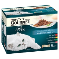 Gourmet Perle Pouch Connoisseurs Selection 85g 12-Pack x 4