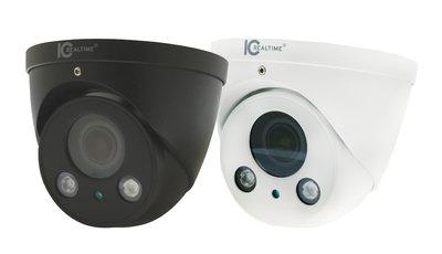 IC Realtime 4MP IP H.265E 2.7~13.5mm Motorised 50m IR Dome Camera (White or Black)