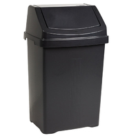 Casa 50L Swing Bin Midnight Black