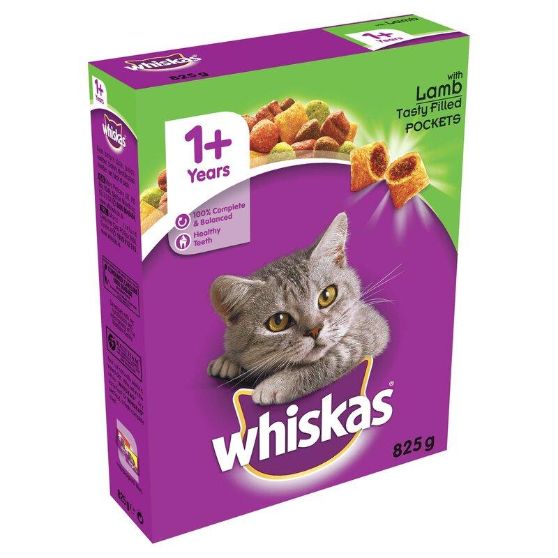 Whiskas Dry 1+ Lamb Cat Food 5 x 825g