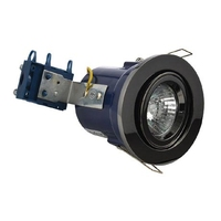 GU10 Black Chrome Fire Rate Downlight Adjustable