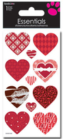 Patterned Hearts Large Essential Craft Sticker. (Priced in singles, order in multiples of 6)