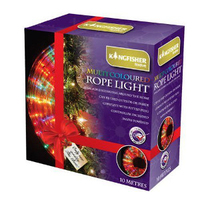 KINGFISHER 10MTR MULTI COLOURED LED ROPE LIGHTS