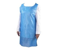 PE Disposable Apron Heavyweight 50 Micron Blue (Box 500)(Flat Packed 70x120)