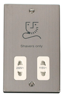 Click Deco Victorian Stainless Steel with White Insert Dual Voltage Shaver | LV0101.1844