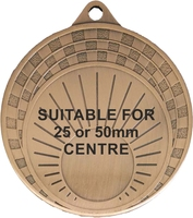70mm Medallion with Sun Rise Design (Bronze)