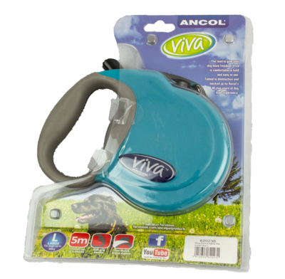 Ancol Viva Extending Lead - Large Teal x 1