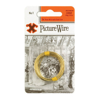 X Brass Picture Wire No.1 Solid Brass 3m Blister Pack