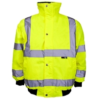 Supertouch Hi-Visibility Junior Bomber, Storm Collar, Yellow