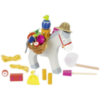 wooden game of skill - Stacking Donkey Game