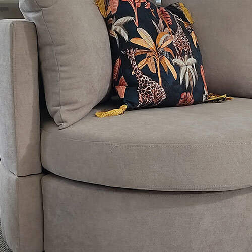 Jack Light Grey Swivel Chair fabric