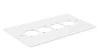 Kelsey 4 D Hole White Pre Punched Double Gang Plates