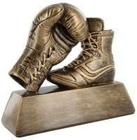 14cm Boxing Glove & Boot (Antique Gold)