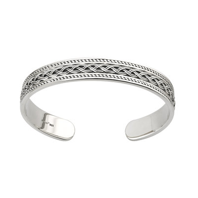 SILVER HEAVY CELTIC KNOT BANGLE (BOXED)