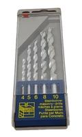 5 Piece Masonry Drill Bit Set 4mm to 10mm 205232