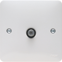 Single F Type Satellite Outlet Screened | LV0301.0604