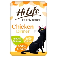 HiLife 'ION' Cat Pouch Complete Chicken Dinner 70g x 18