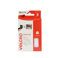 VELCRO 20 MM X 1 MTR STICK ON TAPE WHITE