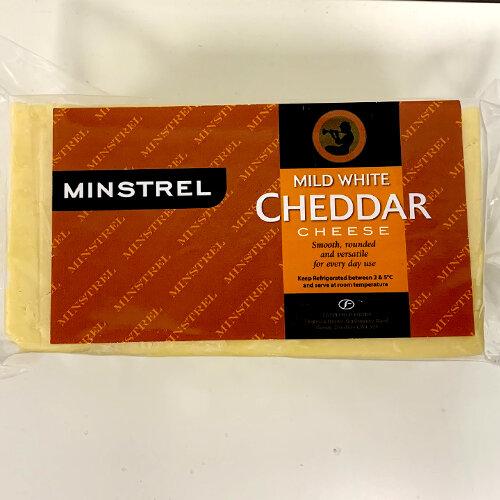 Mild Cheddar White Block (Minstel)  1.25kg