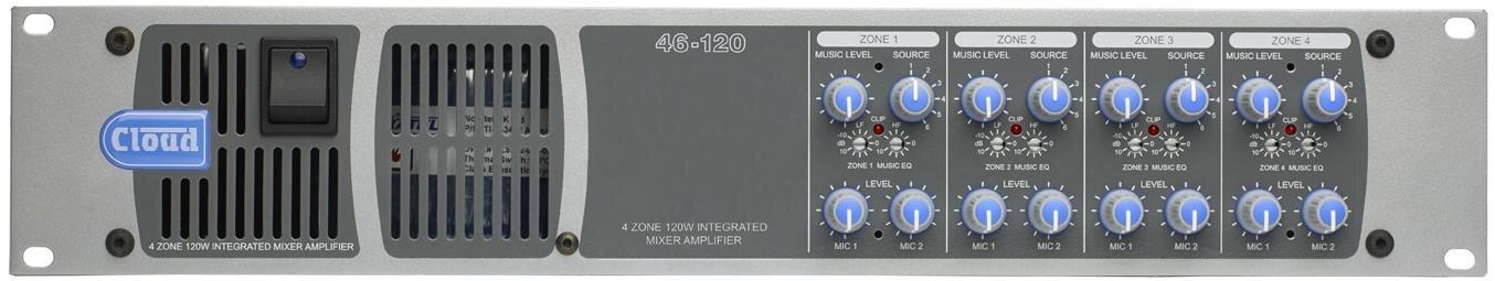 Cloud 46-120 | 4 Zone Integrated Mixer Amplifier