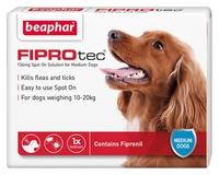 Beaphar FIPROtec Medium Dog Flea Drops - 1 Tube x 1