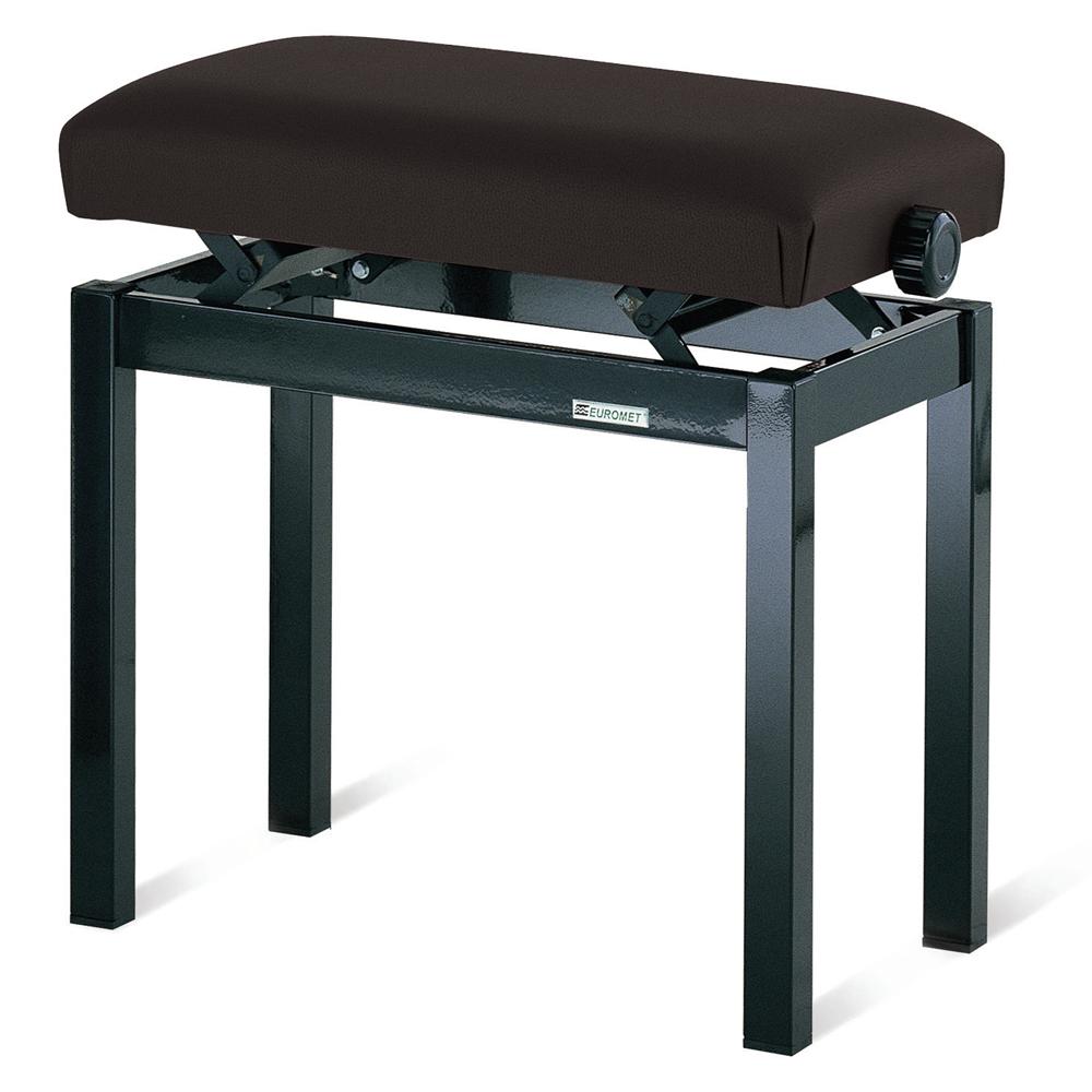 Euromet 02000   Rectangular Bench, Black, peltex seat