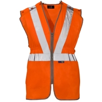 Supertouch Hi-Visibility Polyester Long Tracker Vest, Orange