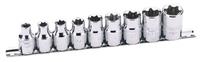 DRAPER 9 Piece Torx Sockets (Female)  67114