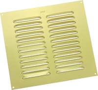 """MAP METAL LOUVRE VENT GOLD 9"""" X 9"""""""