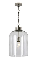 Tala 1 Light Pendant Polished Nickel & Seeded Glass | LV1802.0104