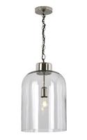 Tala 1 Light Pendant Polished Nickel & Seeded Glass | LV1802.0104