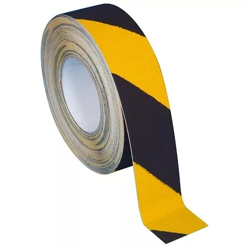 Anti-Slip Tape Black and Yellow 50mm x 10m