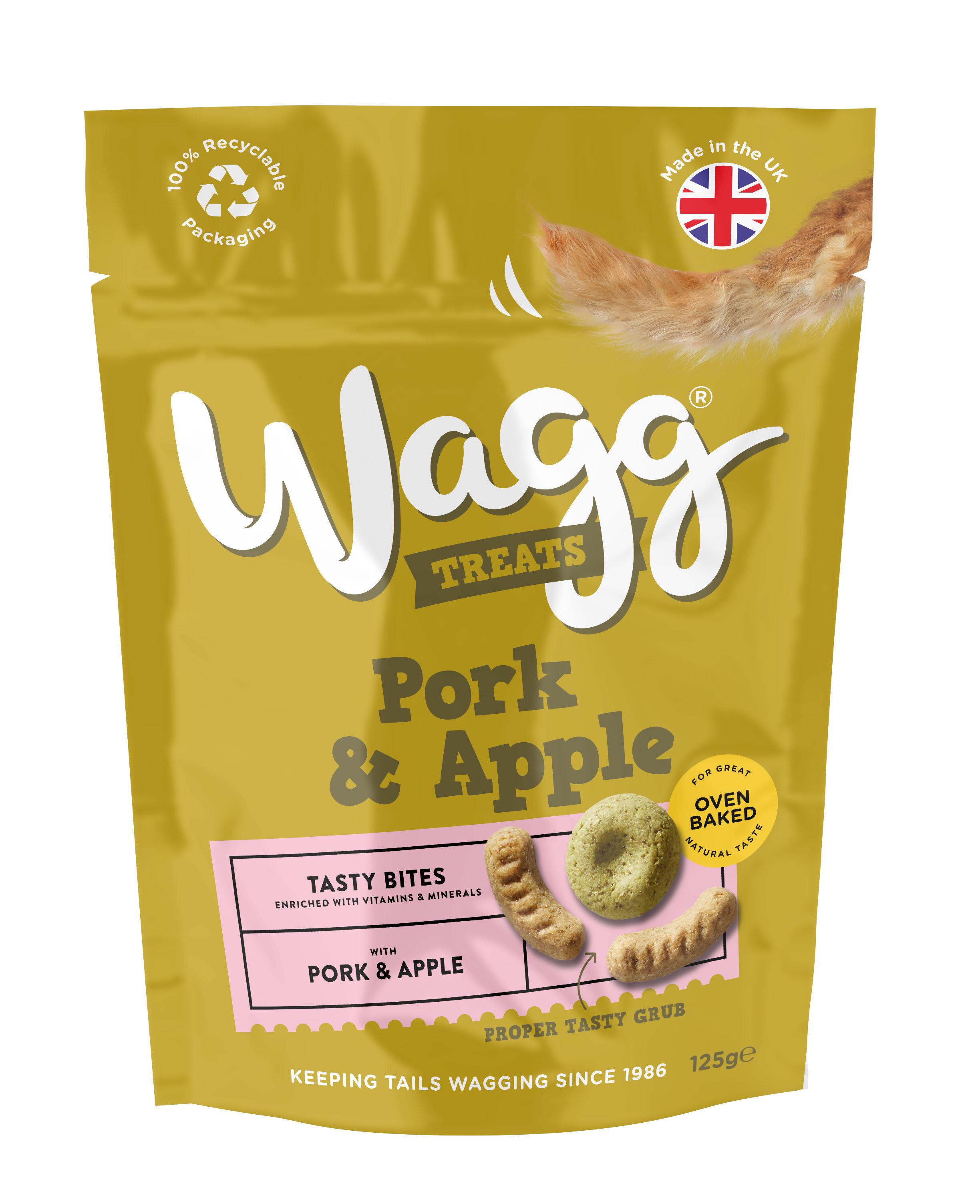 Wagg Dog Treats Pork & Apple 125g x 7