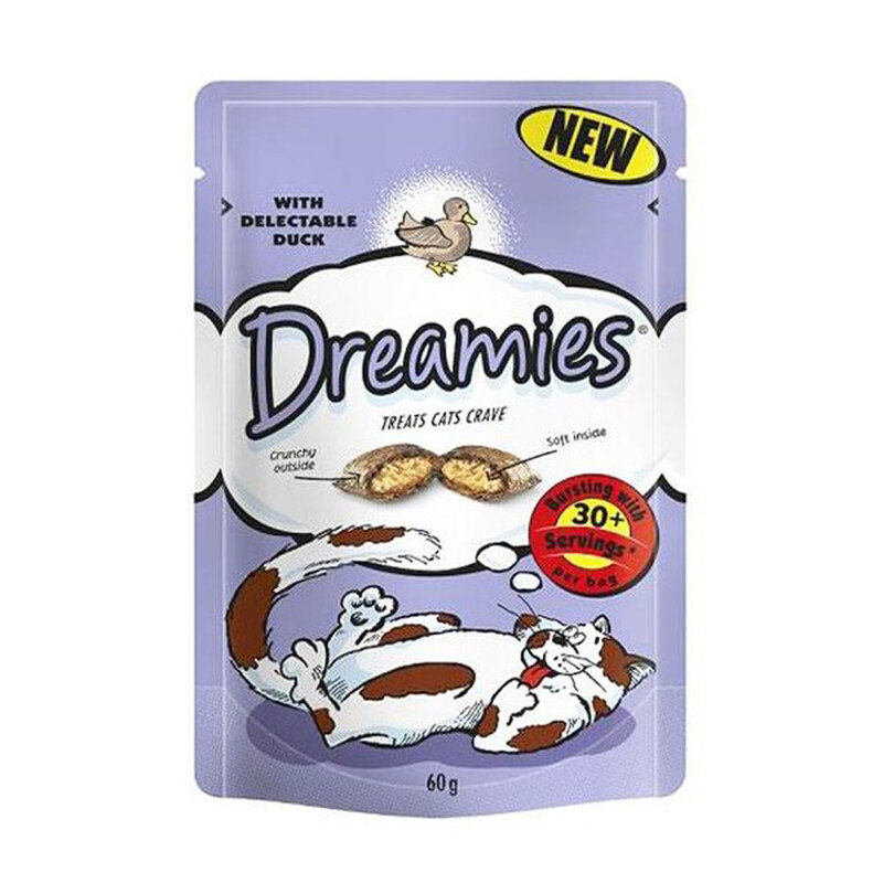 Dreamies Duck Cat Treats 8 x 60g