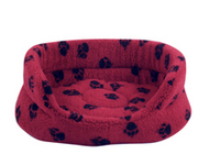 "Danish Design Oval Slumber Bed Wine Red 30"" x 1"