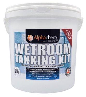 Alphachem Wet Room Tanking System Kit 7.5M2 Tub