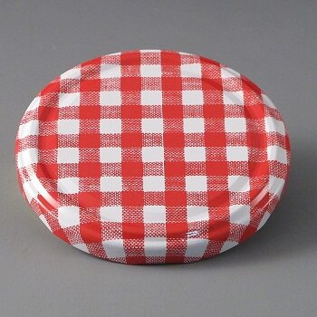 82mm Twist off Red Check Cap