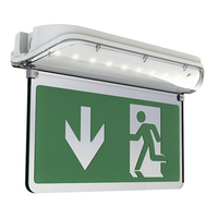 ANSELL HARRIER IP65 LED 3M/NM EXIT SIGN C/W LEGEND, SELF-TEST