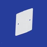 SQR BLANK PLATE 1 GANG PVC