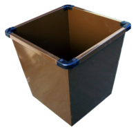Metal Bin Brown Small