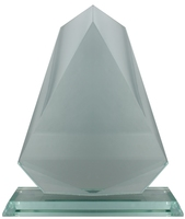 19cm Glass Volcano Plaque (Satin Box)