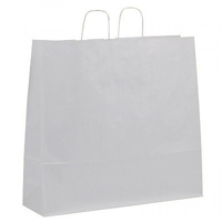 Twist Handle Carrier Bag White 540mm x 150mm x 490mm
