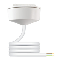 Klik PCR2000 3PIN Pre-Wired Plug-in Ceiling Rose White CW 2Mtr