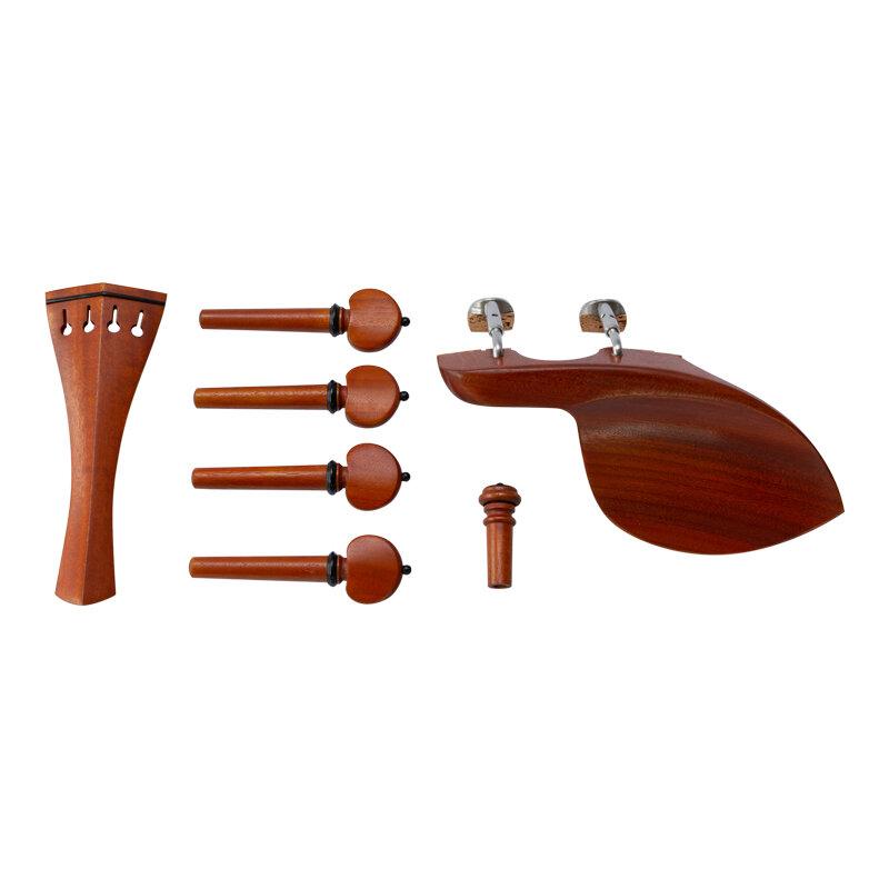 Hill Pattern Violin Peg, Tailpiece, Chinrest Endpin Set