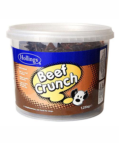 Hollings Beef Crunch Dog Treats Tub 1.25kg