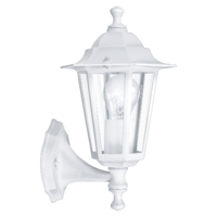 EGLO Laterna 5 White Lantern Stand Up IP44 Wall Light | LV1902.0113