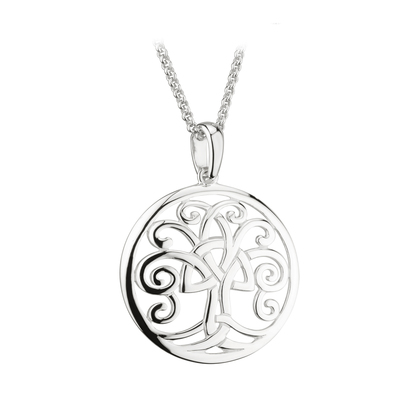 S/S CELTIC TREE OF LIFE PENDANT